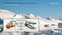 Fish in Greenland IV - Date cancellation - Souvenir sheet