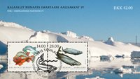 Fish in Greenland IV - First day cancellation - Souvenir sheet
