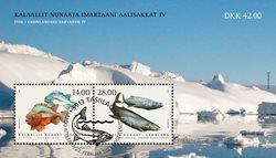 Fisk i Grønland IV - Førstedagsstemplet - Miniark
