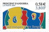Fransk Andorra - Europæiske sprog - Postfrisk frimærke