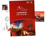 Tyrkiet - Republic day / Folder MS - Stemplet miniark