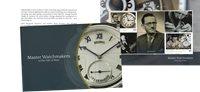 Isle of Man - Master Watchmakers PBK - Postfrisk prestigehæfte