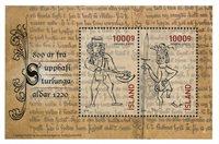 Islanti - Sturlungs 800 vuotta - Postituore pienoisarkki