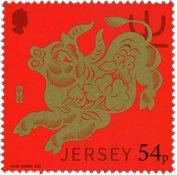 Jersey - Year of the ox * - Timbre neuf