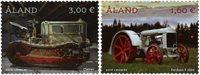 Åland Islands - Vintage tractors - Mint set 2v