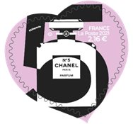 France - Chanel no.5 100g - Mint adhesive stamp