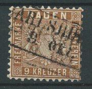 Baden 1862 - AFA 15 - Oblitéré