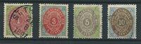 Antilles danoises 1873 - 4 værdier - Oblitéré