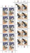 EUROPA - National Birds - Date cancellation - Full sheet