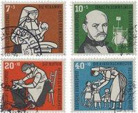 Tyskland 1956 - MICHEL 243-246 / AFA 1206-1209 - Stemplet
