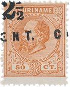 Suriname 1892 - NVPH 21 no gum as issued - Postfrisk, ingen gummiering