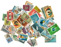 Emirats Arabes Unis - 100 timbres oblitérés différents