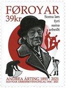 Faroe Islands - Andrea Arting - Mint stamp