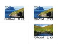 Færøerne - Kirkja & Hattarvik - Postfrisk selvklæbende sæt 3v