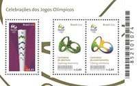 Brasilien - Fejringen af de Olympiske lege 2016 - Postfrisk miniark
