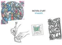 Frankrig - Glasarbejde - Postfrisk miniark i folder
