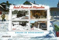 Saqn Pedro y Miquelón - Quitar la nieve - Hoja bloque nuevo