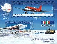 Fransk Antarktis - Fly Basler BT-67 - Postfrisk miniark