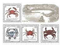 Fransk Antarktis - Krabber - Postfrisk miniark