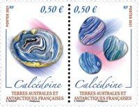 Fransk Antarktis - Mineraler - Postfrisk sæt 2v