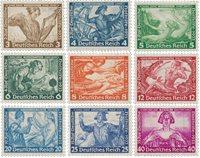 German Empire 1933 - MICHEL 499-507 - Unused