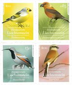 Liechtenstein - Pájaros cantores - Serie 4v. nuevo