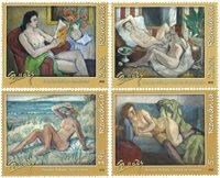 Rumænien - Nøgne skønheder på kunstværker - Postfrisk sæt 4v