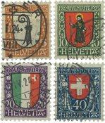 Suisse 1923 - MICHEL 185-88 - Oblitéré