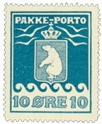 Grønland pakkeporto AFA 7 ubrugt