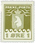 Grønland pakkeporto AFA 4 ubrugt