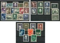 Autriche - 3 années neuves 1950 + 1952 + 1954