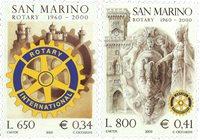 San Marino - Rotary - Postfrisk sæt 2v