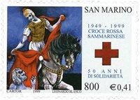 San Marino - Røde Kors - Postfrisk frimærke