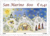 San Marino - Julen 1999 - Postfrisk frimærke