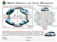 San Marino - Audi - Postfrisk miniark