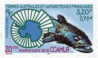 Fransk Antarktis - Marinebiologi forskning - Postfrisk frimærke
