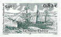 St. Pierre & Miquelon - Navire Mère Thérèse - Timbre neuf