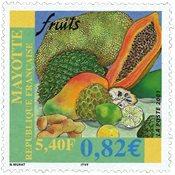 Mayotte - Frugter - Postfrisk frimærke