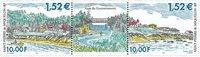 St. Pierre - Landskab - Postfrisk par med tab