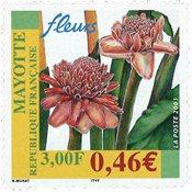 Mayotte - Blomster - Postfrisk frimærke