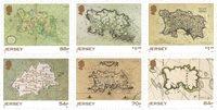 Jersey - Mapas históricos - Serie 6v. nuevo