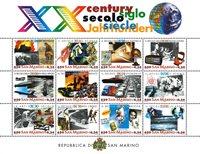 San Marino - Det 20. århundrede - Postfrisk miniark