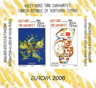 Tyrkisk Cypern - Europa 2006 - Postfrisk utakket miniark
