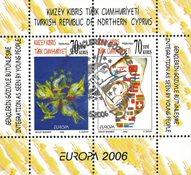 Tyrkisk Cypern - Europa 2006 - Stemplet miniark