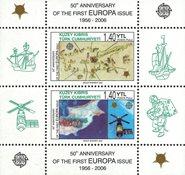 Tyrkisk Cypern - CEPT 50år - Postfrisk miniark