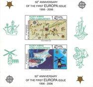 Tyrkisk Cypern - CEPT 50år - Postfrisk utakket miniark