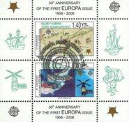 Tyrkisk Cypern - CEPT 60år - Stemplet miniark