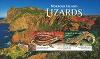 Norfolk Island - Firben - Stemplet miniark
