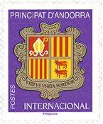 Fransk Andorra - Våbenskjold - Postfrisk frimærke