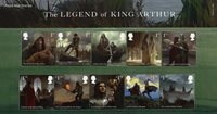 England - Kong Arthur - Souvenirmappe